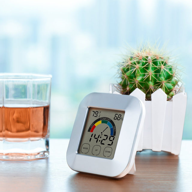 Indoor Smart Thermometer With Touchscreen For Wall